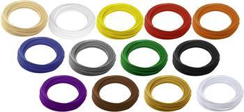 Renkforce Filament-Paket PLA 1.75 mm Natur, Weiß, Gelb, Rot, Orange, Blau, Grau, Grün, Schwarz, Pu