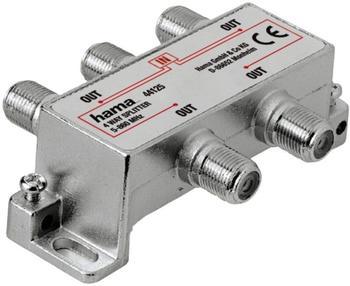 Hama 44125 Breitband-Kabelverteiler 4fach