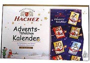 Hachez Adventskalender mit 24 Vollmilchtafeln