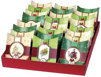 ROTH Adventskalender mit 24 Adventskissen