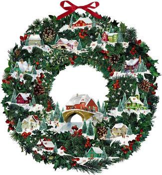 Coppenrath Winterhäuschen-Weihnachtskranz, Wand-Adventskalender (Behr)