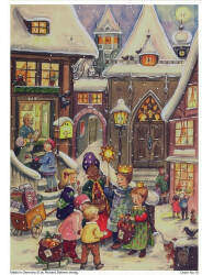 Richard Sellmer Verlag Sellmer Adventskalender A4 - Dorfweihnacht