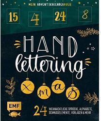 EMF Verlag Mein Adventskalender-Buch: Handlettering X-Mas