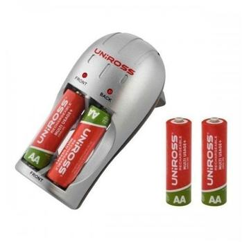 Uniross Compact Charger + 4x AA 2100mAh