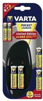 Varta 57062 Pocket Charger + 4x AA + 2x AAA
