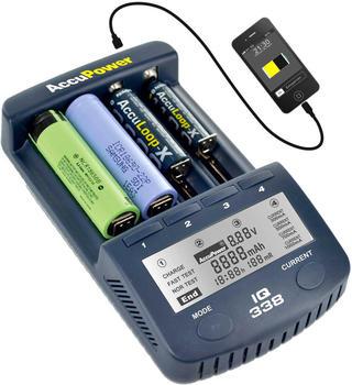 AccuPower Rundzellen-Ladegerät IQ338