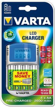 Varta power LCD Charger inkl. 4 AA Akkus (57070201451)