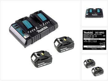 Makita 18 V Power Source KIT DC 18 RD + 18V 5 Ah Akkus