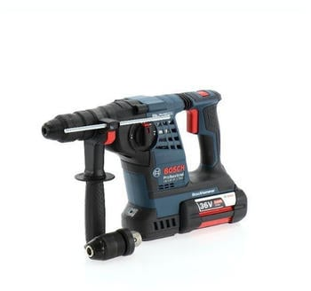Bosch GBH 36 V-LI Plus Professional (2x 6,0 Ah + Schnellladegerät) in L-Boxx (61190700B)