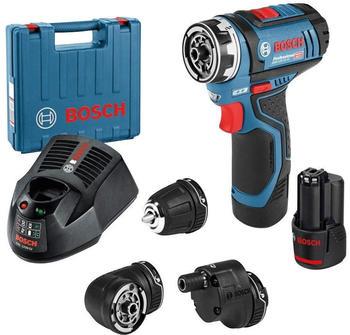 Bosch GSR 12V-15 FC Professional (1 x 2,0 Ah + Schnellladegerät) + Zubehört-Set