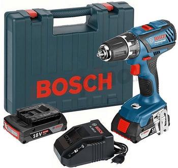 Bosch GSR 18-2-LI Plus Professional (2 x 2,0 Ah + Schnellladegerät) im Koffer