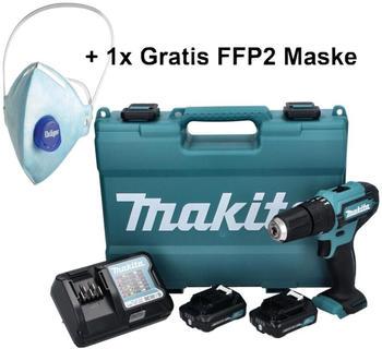 Makita HP333DWAE (2x 2,0 Ah +Ladegerät + Koffer + Atemschutzmaske)