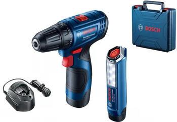 Bosch GSR 120-LI Professional ( 2x2.0Ah + Akku-Lampe 06019G8004)