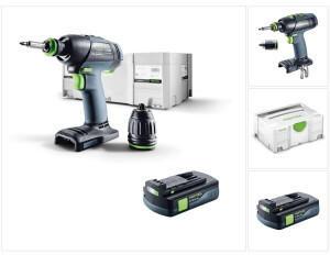 Festool T 18+3 Li-Basic 18V 50Nm Brushless + 1x Akku 3,1Ah + Systainer - ohne Ladegerät