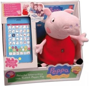 Bandai Peluche interactivo con Tablet Peppa Pig