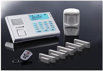 Olympia Protect 9061 Alarmanlagen GSM Funk Set 1 Bewegungsmelder, 5 Tür/Fensterkontakten und Fernbedienung,