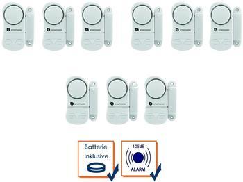 Smartwares 9er-Set Mini Türalarm und Fensteralarm 85dB, Einbruchschutz