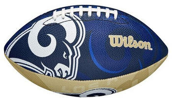Wilson Los Angeles Rams Logo Junior Football (WTF1534IDLA) blue