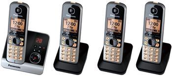 Panasonic KX-TG6724 Quattro schwarz