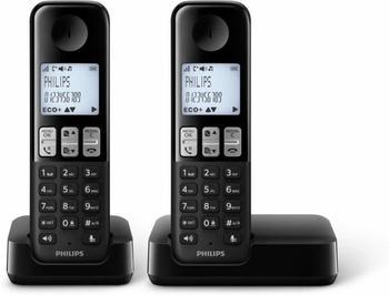 Philips D2302 Duo schwarz