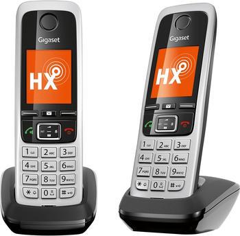 Gigaset DECT Mobilteil C430 HX Duo Schwarz/Silber