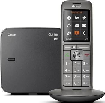 Gigaset Schnurloses Telefon analog CL660A mit Box 200 Anrufbeantworter
