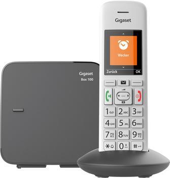 Gigaset E370 Schnurloses Telefon analog Babyphone, Freisprechen, inkl. Mobilteil, mit Basis Silber,