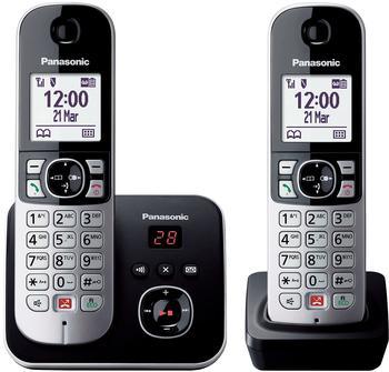 Panasonic KX-TG6862GB Schwarz/Silber Duo