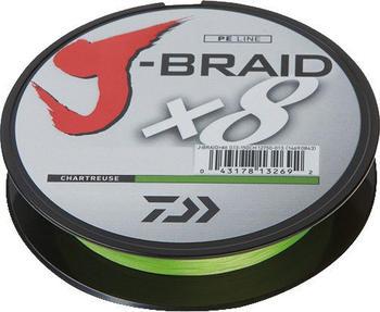 Daiwa J-Braid X8 chartreuse 150m 0,10mm