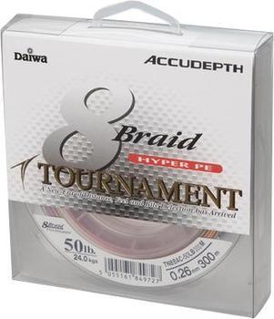 Daiwa Tournament 8 Braid Accudepth Multicolor 1000m 0,10mm