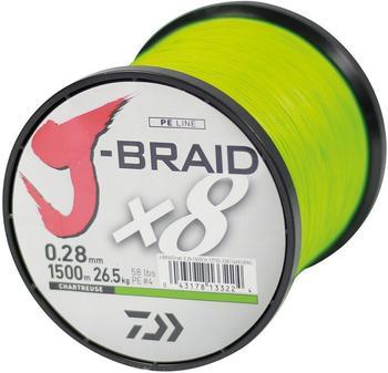 Daiwa J-Braid X8 chartreuse 1500m 0.24mm