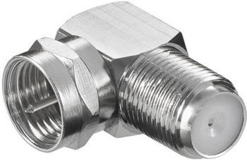 Goobay 11390 F-Stecker > F-Kupplung 90°Winkel