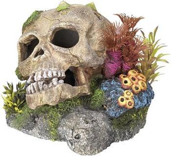 Nobby Aqua Ornaments Totenkopf mit Pflanzen (13,5 x 10,5 x 13,5 cm)