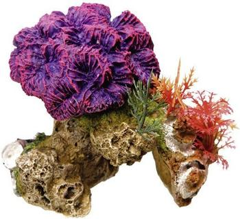 Nobby Aqua Ornaments Koralle mit Pflanzen (13 x 10 x 12 cm)