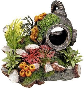 Nobby Aqua Ornaments Helm mit Pflanzen (13,5 x 11 x 12 cm)
