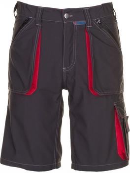 Planam Shorts Basalt MG 260 anthrazit/rot