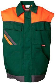 Planam Arbeitsweste VISLINE grün/orange/schiefer