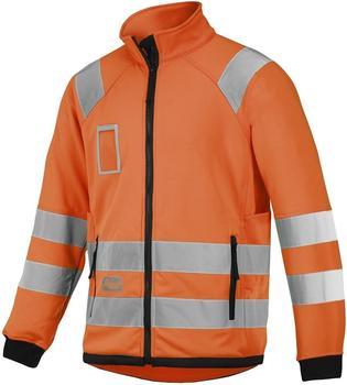 Snickers 8063 Warnschutz Micro Fleece Jacke signalorange