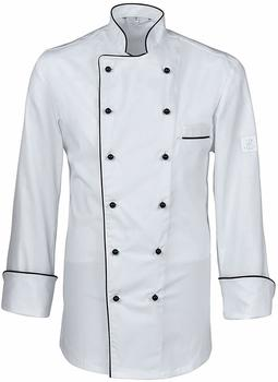 Greiff Herren-Kochjacke PREMIUM Style 5568 weiß/schwarz