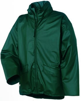 Helly Hansen Voss Waterproof PU Rain Jacket (70180) dark green