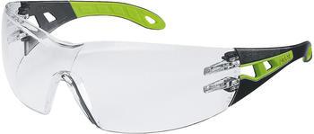 Uvex Pheos Laborbrille schwarz/grün