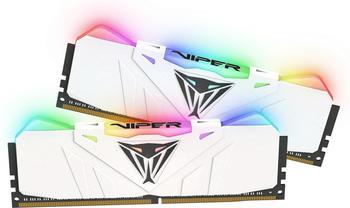 Patriot DIMM 16 GB DDR4-2666 Kit, Arbeitsspeicher, weiß, Pvr416G266C5Kw, Viper RGB