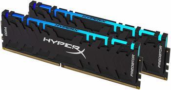 Kingston DIMM 16 GB DDR4-3600 Kit, Arbeitsspeicher schwarz, HX436C17PB3AK2/16, Predator RGB