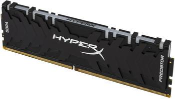 Kingston HyperX Predator RGB RAM 32GB (4x8GB) 3600MHz DDR4 CL17, schwarz, HX436C17PB3AK4/32,