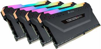 Corsair Dimm 64 GB Ddr4-3600 Quad-Kit, Arbeitsspeicher, schwarz, Cmw64Gx4M4K3600C18, Vengeance RGB PRO