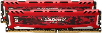 Ballistix Sport LT 16GB DDR4 KIT 8GBx2 3200 DIMM 288pin red SR