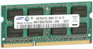 Samsung 4GB SO-DIMM DDR3 PC3-8500 CL7 (M471B5273CH0-CF8)