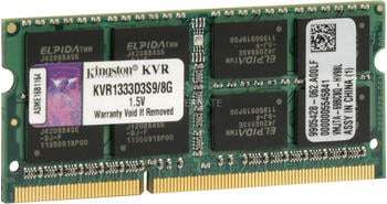 Kingston ValueRam 8GB SO-DIMM DDR3 PC3-10600 CL9 (KVR1333D3S9/8G)