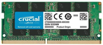Crucial 16GB SODIMM DDR4-2666 CL19 (CT16G4SFRA266)