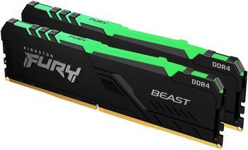 Kingston FURY Beast RGB 16GB DDR4-3200 CL16 (KF432C16BBAK2/16)